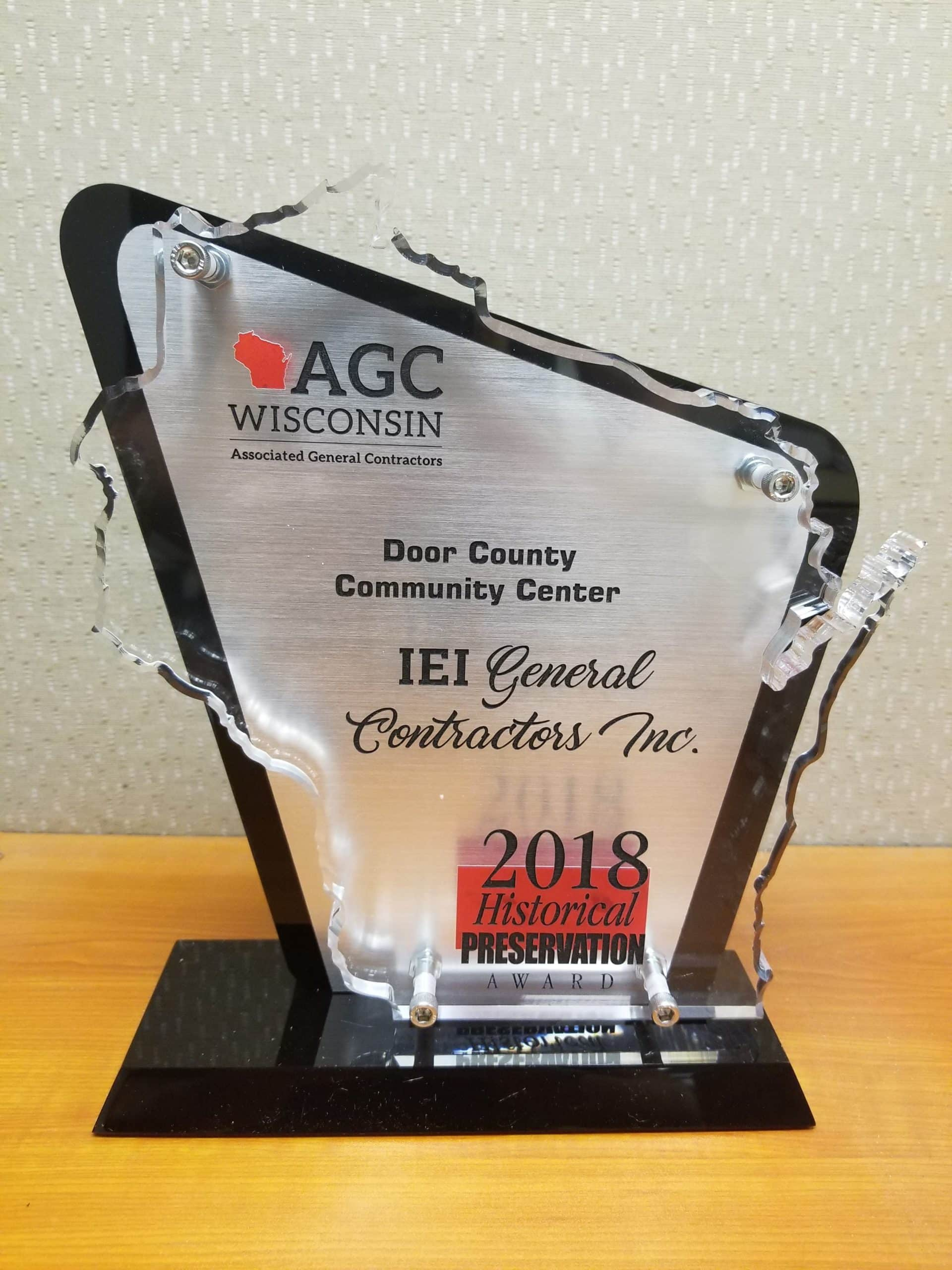 Read more about the article IEI General Contractors earns 2nd Historical Preservation Award
