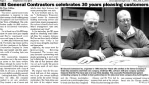 IEI General Contractors celebrates 30 years pleasing customers