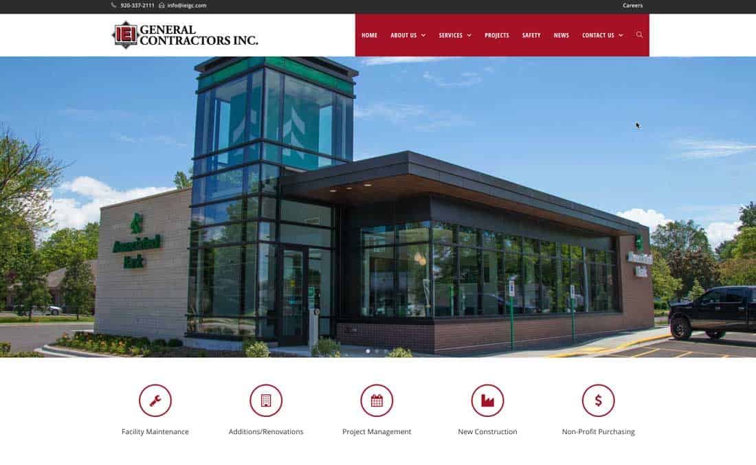 IEI General Contractors launches new website to feature